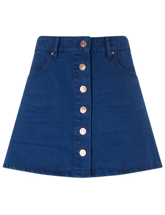 skirt mini skirt denim mini navy