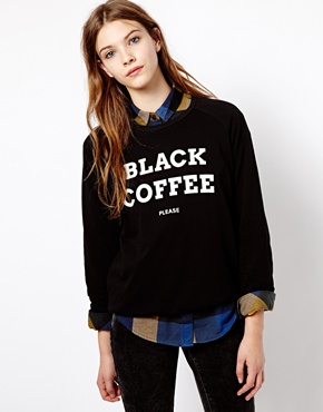 Pull&Bear | Pull&Bear - Sweat avec inscription «Black Coffee» chez ASOS
