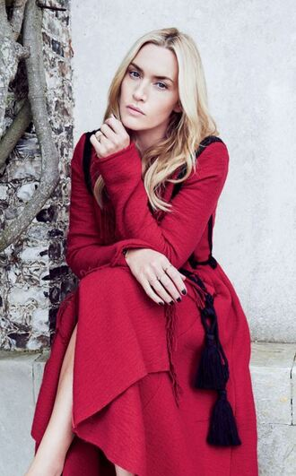 coat red red coat kate winslet editorial fall coat fall outfits