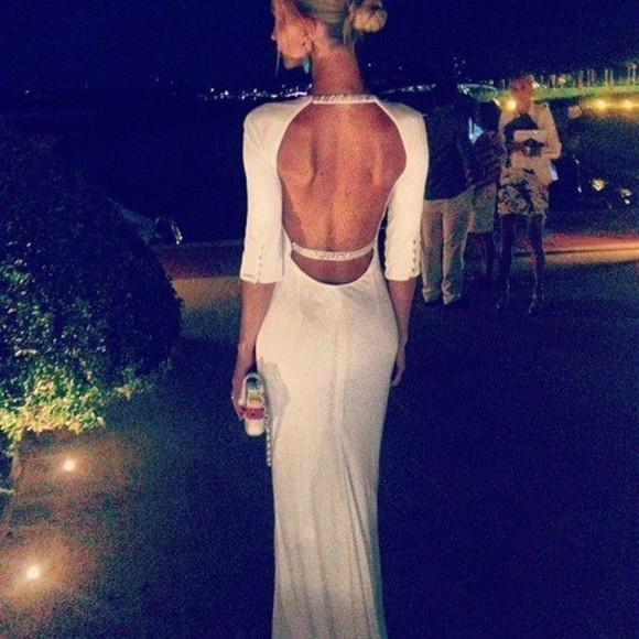 white white dress prom dress white bodycon dress backless dress awards dress dress long white dress long white dresses long prom dresses prom white lace wedding dresses long evening dress special occasion long sleeves white dress open back with straps backless prom dress