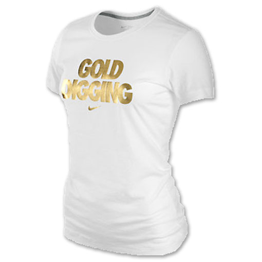 Nike Gold Digging Women's Tee Shirt | FinishLine.com | White