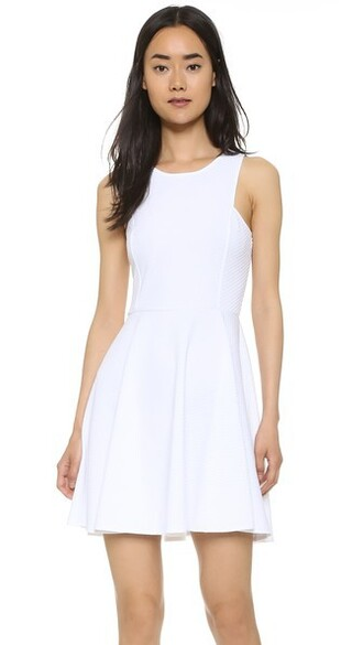 dress flare dress flare fit white