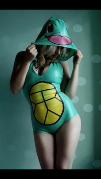 jumpsuit squirtle turtle one piece hood