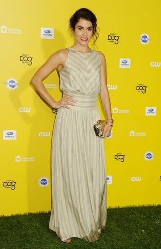 gown nikki reed clutch striped dress