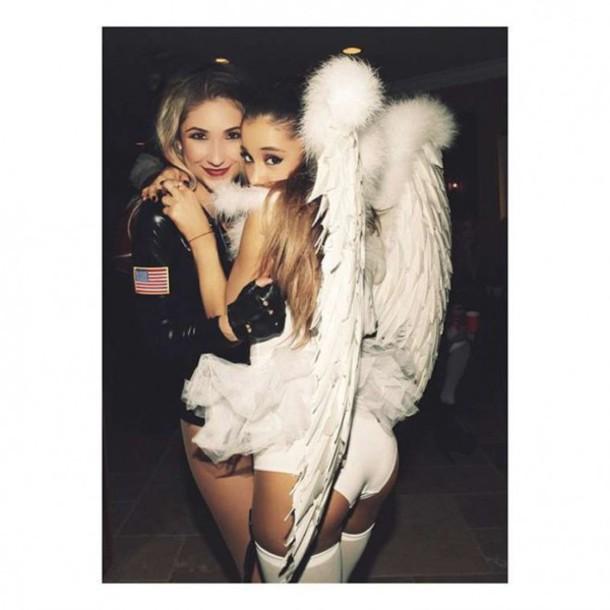 Dress: top, wings, ariana grande, halloween, halloween costume ...