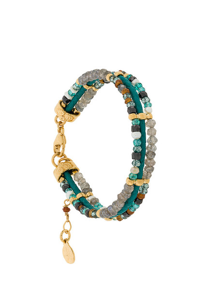 Gas Bijoux women gold leather blue jewels