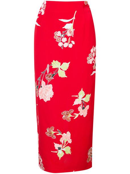 Dvf Diane Von Furstenberg skirt women print red