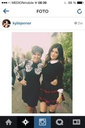 sweater,kylie jenner,cute,black,classy,skirt,blouse