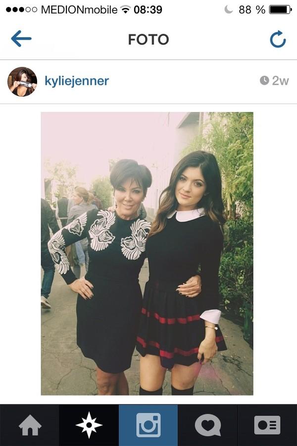 sweater kylie jenner cute black classy skirt blouse