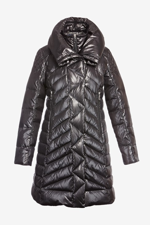 Long Double Collar Down Puff Jacket - Coats & Jackets - French Connection Usa