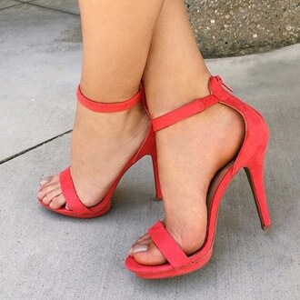 shoes heels heel coral coral shoes summers spring gojane