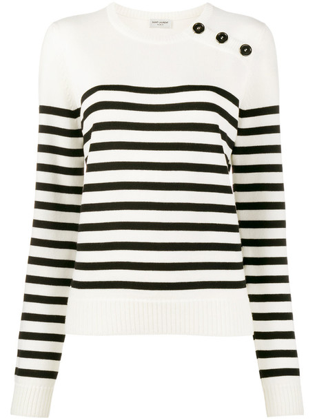 Saint Laurent jumper women white wool sweater
