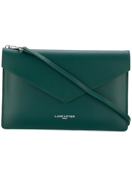 lancaster style women clutch leather green bag