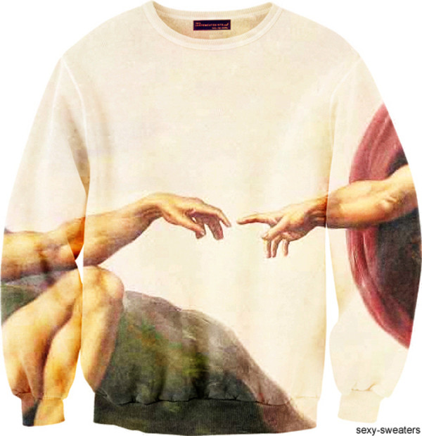 sweater dope holy gold winter swag printed sweater