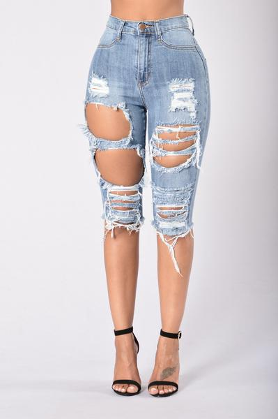 ripped jean shorts fashion nova