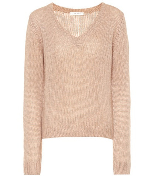 The Row Aetra cashmere-blend sweater in beige / beige