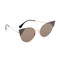 Fendi arrow accent sunglasses - rose gold black/black