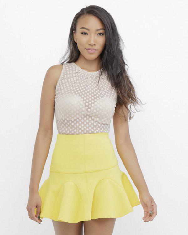 skirt yellow yellow skirt flare flare skirt skater skirt