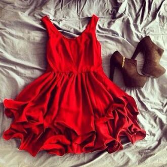 dress red dress short red dress pleated skirt mini dress