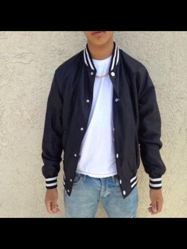 jacket, h&m divided, black jacket, mens varsity jackets