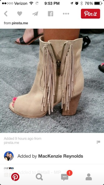 shoes fringes open toes boots i really love these!