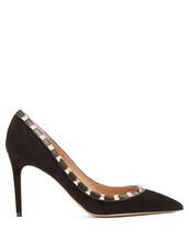 suede pumps,pumps,suede,black,shoes