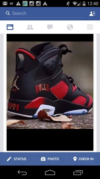 shoes black retro 6 jordan custom jordan's jordans retro jordans air jordan custom jordans custom shoes sneakers red chicago chicago bulls dope jordan 7 1991