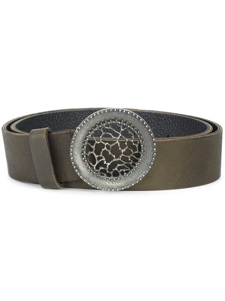 Ivo Scunzani women belt leather green