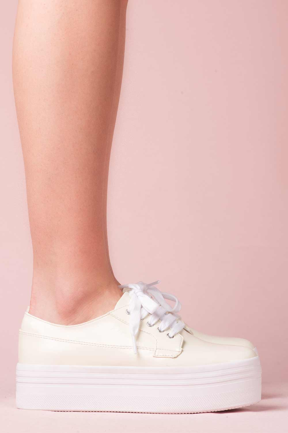 JEFFREY CAMPBELL SNEAKERS - LOUSIE OFF WHITE
