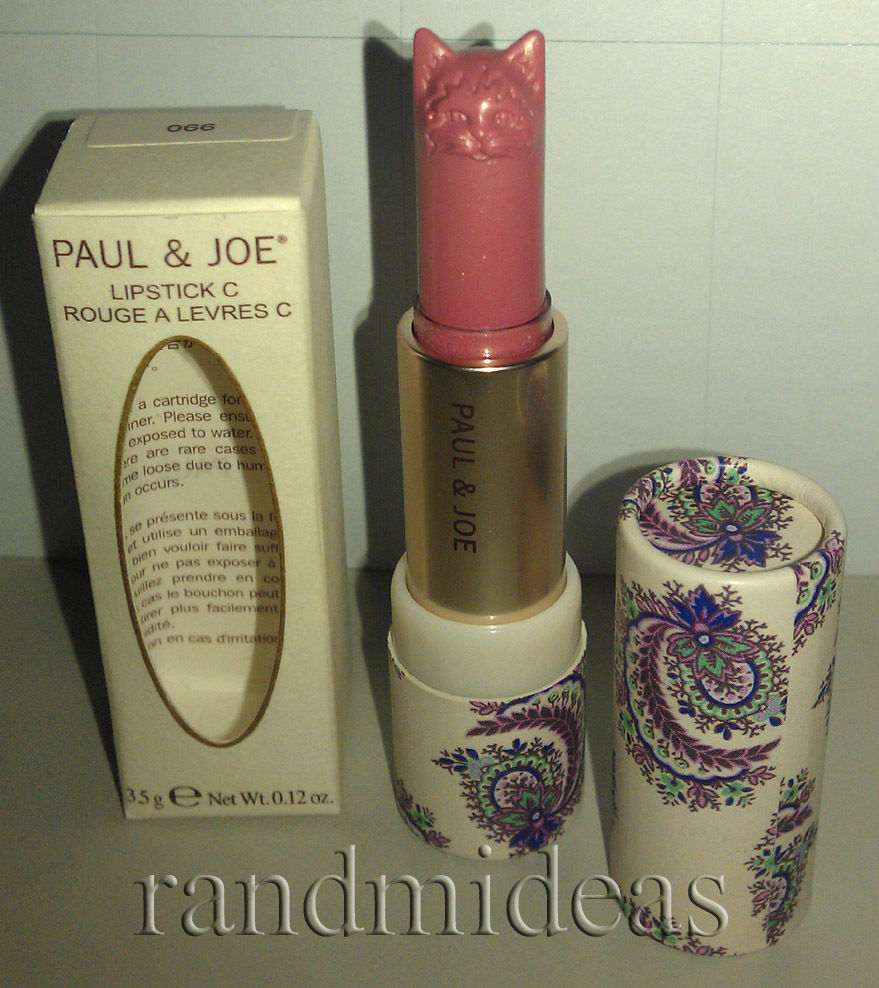 Paul & Joe Lipstick C-Lovely Cat-Shaped Head-LE-RARE-NEW-Available In 3 Color~*