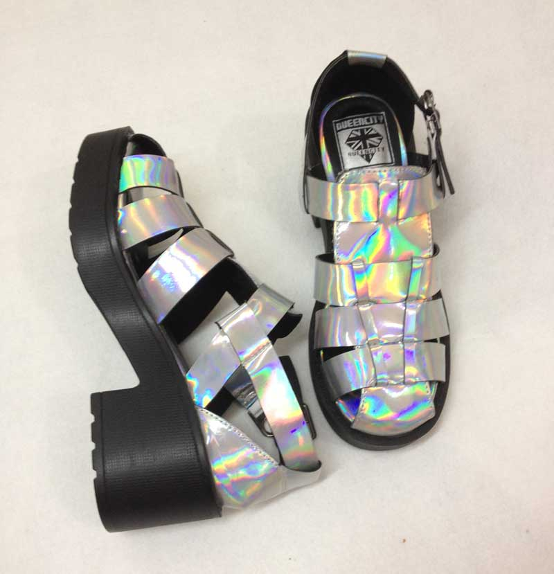 Heeled european and american punk rock soled sandals rome laser headtvotplqkqoh from english agent:buychina.com
