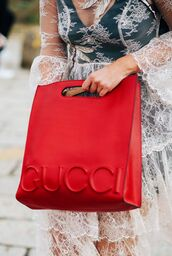 bag,fashion week street style,fashion week 2016,fashion week,milan fashion week 2016,gucci,gucci bag,dress,white lace dress,lace dress,see through,see through dress,white dress,streetstyle,red bag