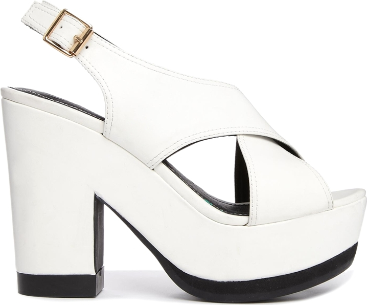 River Island Rapper Cross Strap Heeled Sandals - River Island - £50.00