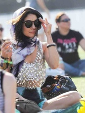 blouse,cute top,crop tops,coachella,stagecoach,sparkly top,jewels,vanessa hudgens,home accessory,hair accessory