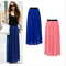 1pcs new women chiffon full long maxi pleated skirt puff beach skirts high waist elastic waistband-in skirts from apparel & accessories on aliexpress.com