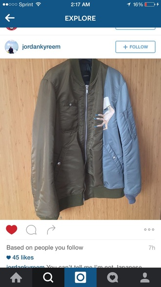 jacket bomber jacket olive green kanye west urban