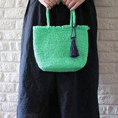 bag,raffia bag,tote bag,raffia tote,medium bag,green bag,tassel,summer tote bag,summer bags,cute summer bag