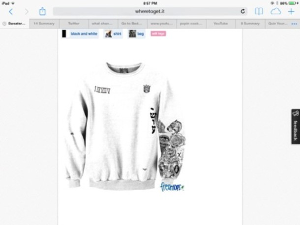The gallery for justin bieber sweatshirt fresh tops for Justin bieber tattoo sweatshirt