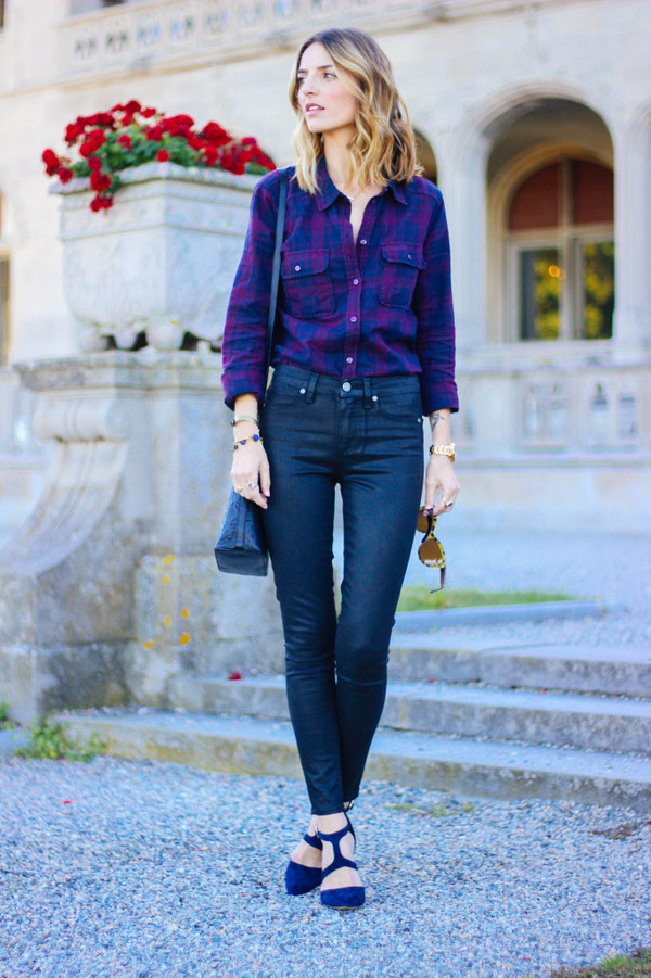 prosecco and plaid blogger jeans bag jewels