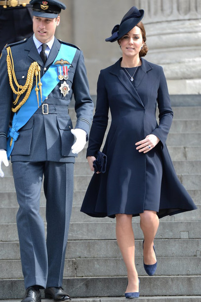 coat navy pumps kate middleton dress midi dress