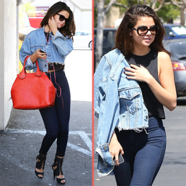 jacket jeans grunge style belt bag selena gomez shoes