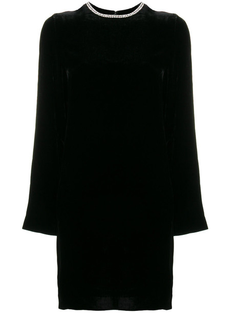 McQ Alexander McQueen dress embellished dress women embellished black silk