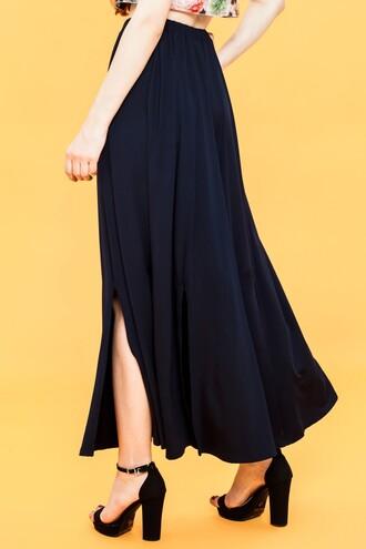 maxi skirt panel skirt knit skirt