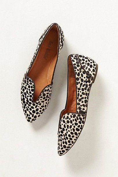 e37dbb26b01 shoes pointed toe loafers cute shoes smoking slippers animal print  anthropologie