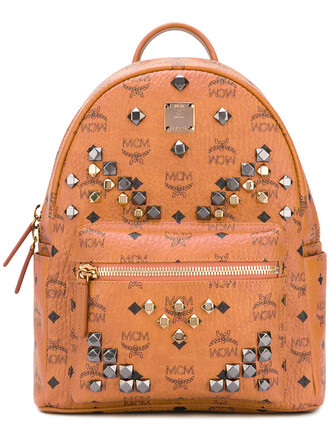 women backpack leather brown bag