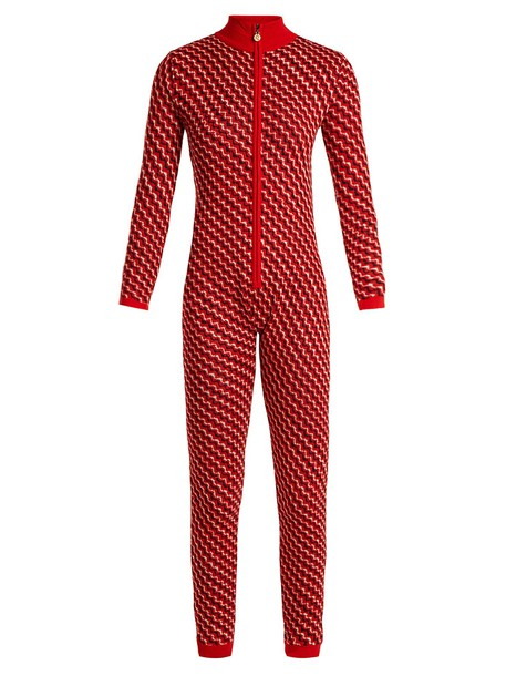 Perfect Moment jumpsuit wool knit red