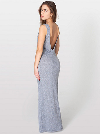 Long Scoop Back Dress | American Apparel