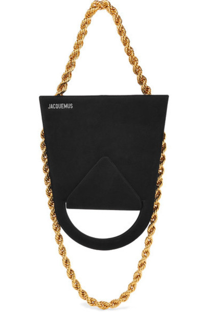Jacquemus bag shoulder bag suede black