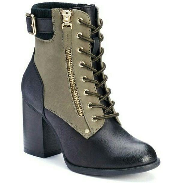 tie up boots, booties, gold zipper, apt