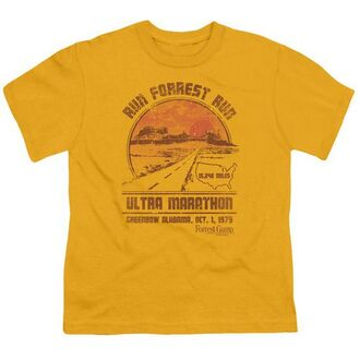 t-shirt tee vintage old forrest gump run sunset dawn road retro yellow